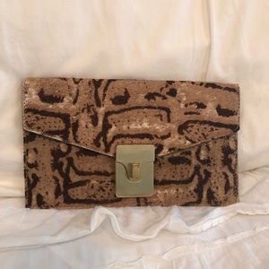 Talbots Leather Clutch